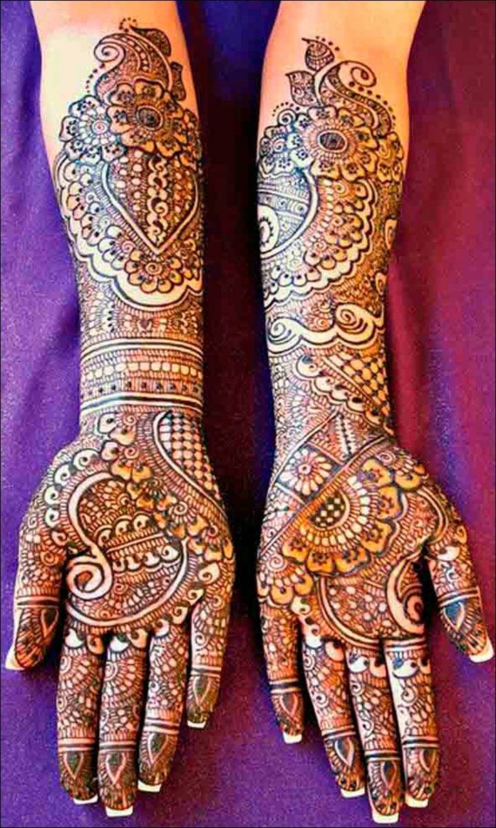 Mehndi Patterns Bridal : Rajasthani bridal mehndi designs charmingly graceful