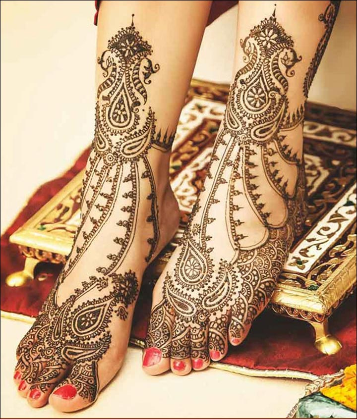 Bridal Mehndi Rajasthani : Rajasthani bridal mehndi designs charmingly graceful