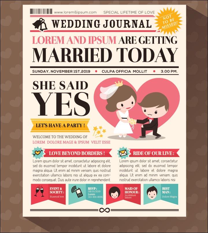 Wedding Invitation Background - Journal Theme