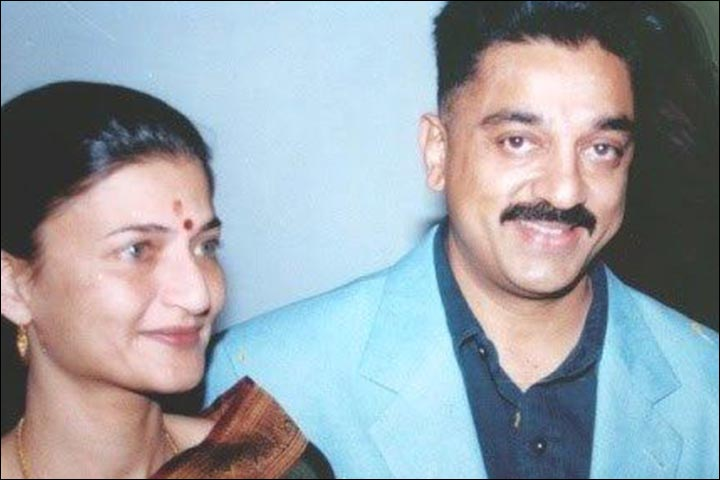 Image result for kamal hassan and sarika wife
