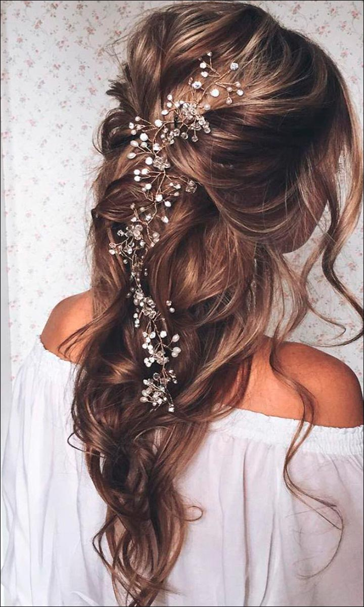 bridal hairstyles for medium hair 32 looks trending this season. Black Bedroom Furniture Sets. Home Design Ideas