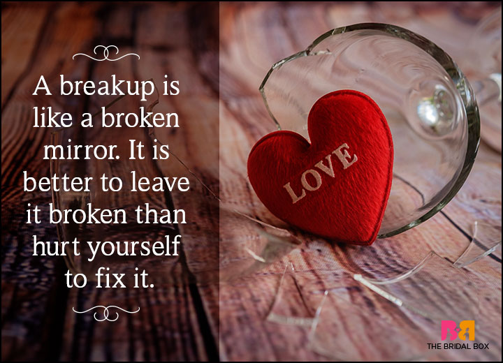 Love Breakup Status Messages - A Broken Mirror