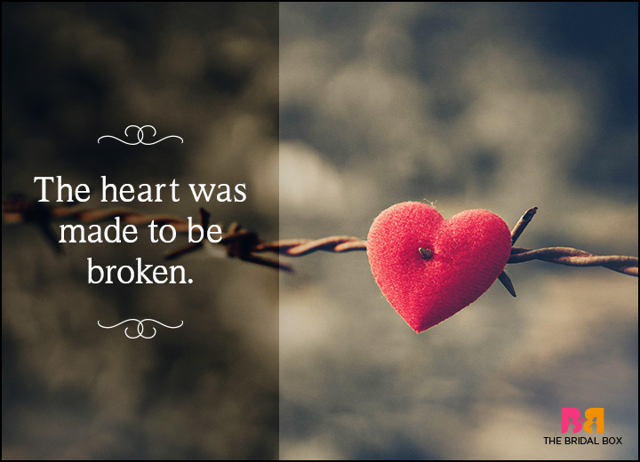 Love Breakup Status Messages - To Be Broken