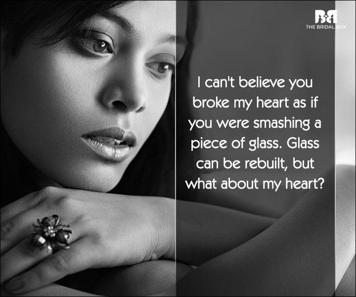 Love Broken Heart SMS - Glass