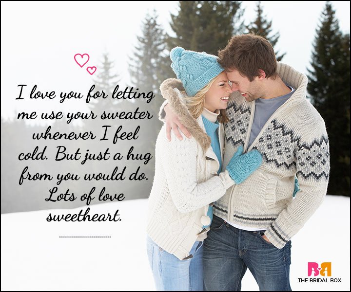 Love SMS For Him - Your Sweater