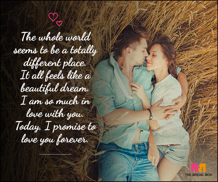 Love SMS For Him - A Totally Different Place