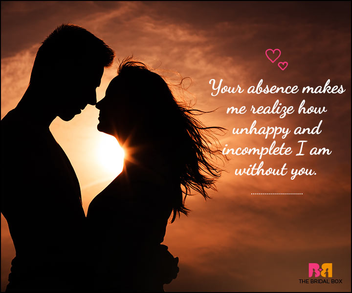 Love SMS For Him - Your Absence