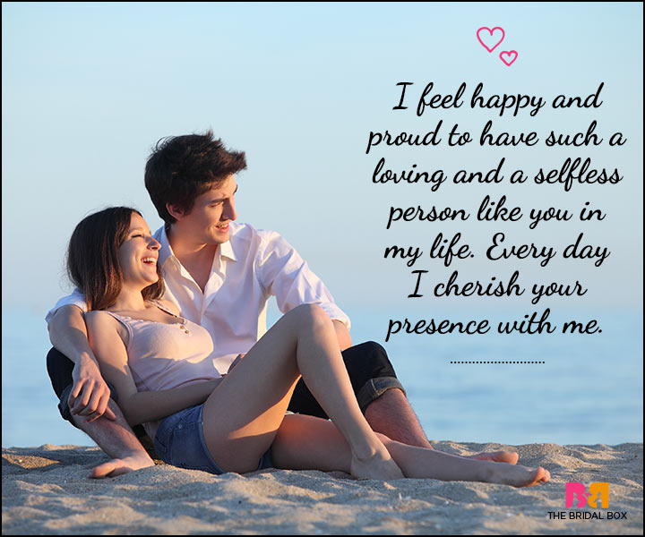 Love SMS For Him - I Cherish Your Presence