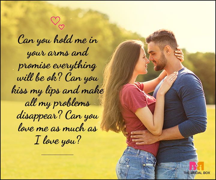 Love SMS For Him - Hold Me