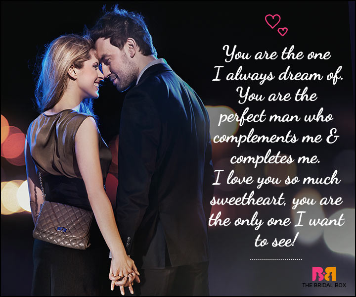 Love SMS For Him - You Are The Only One