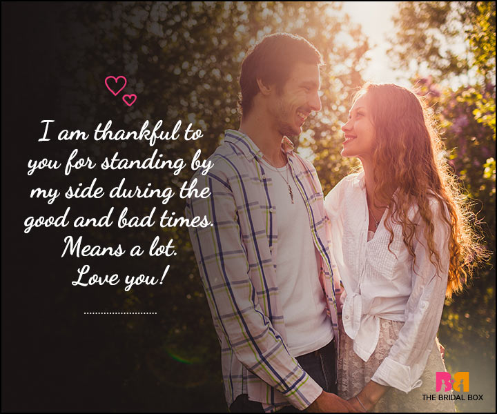 Love SMS For Him - Thankful