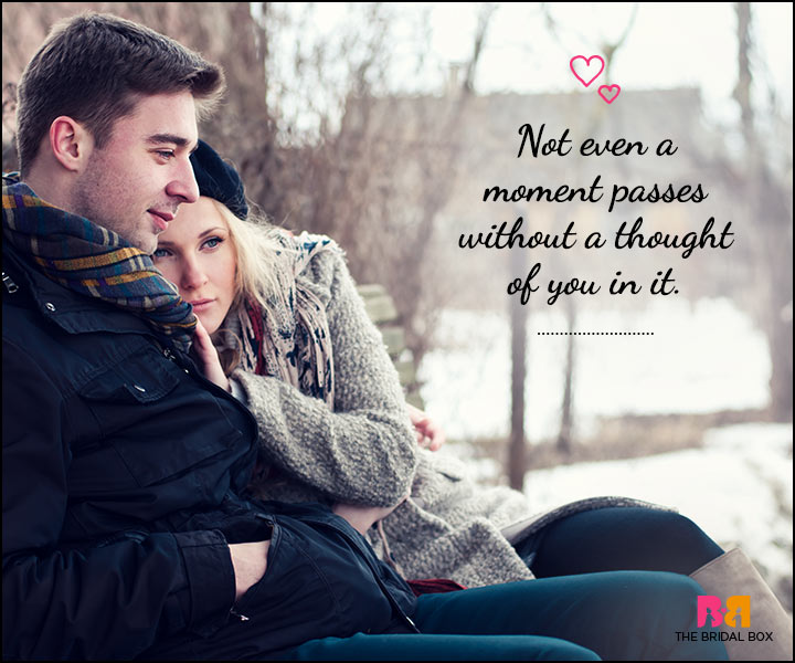 Love SMS For Him - Not Even A Moment