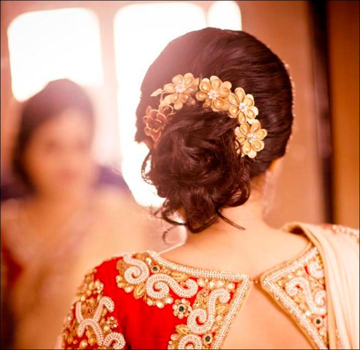 Hindu Indian Wedding Hairstyles: Hindu Bridal Hairstyles: 14 Safe Hairdos For The Modern