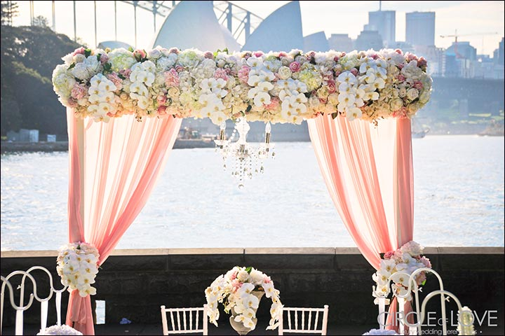 Outdoor Day Wedding Backdrop