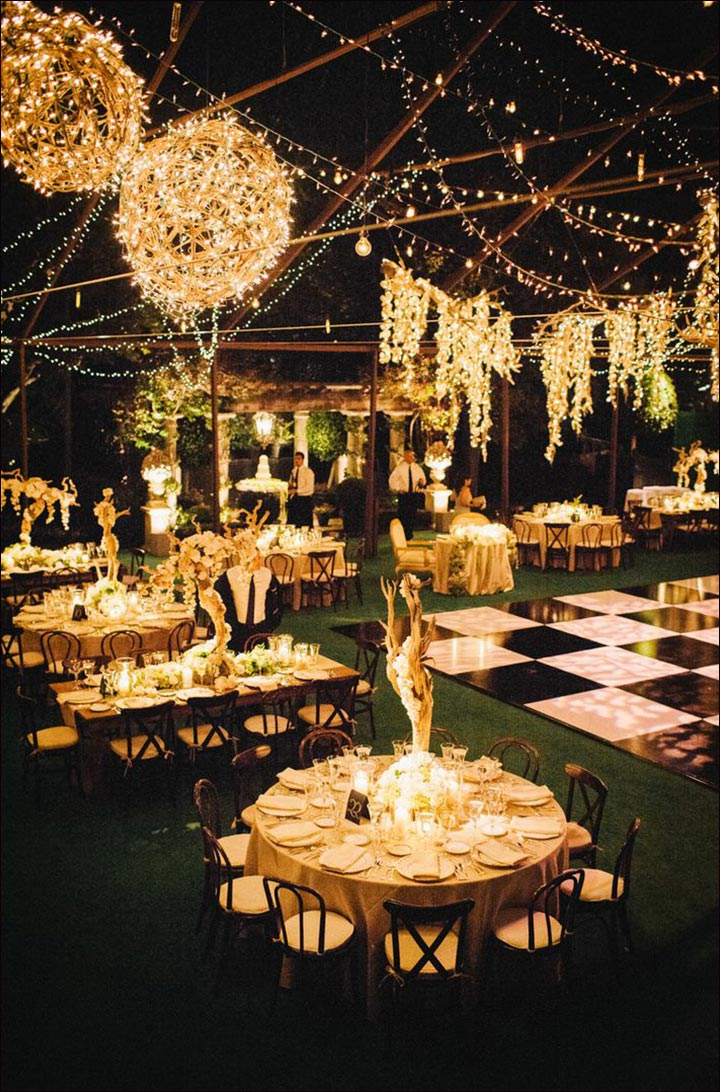 Wedding Backdrop Ideas - Outdoor Night Wedding Backdrop