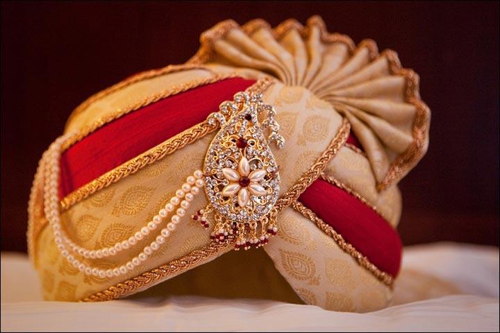 Punjabi Wedding Accessories - Pagdi And Kalgi