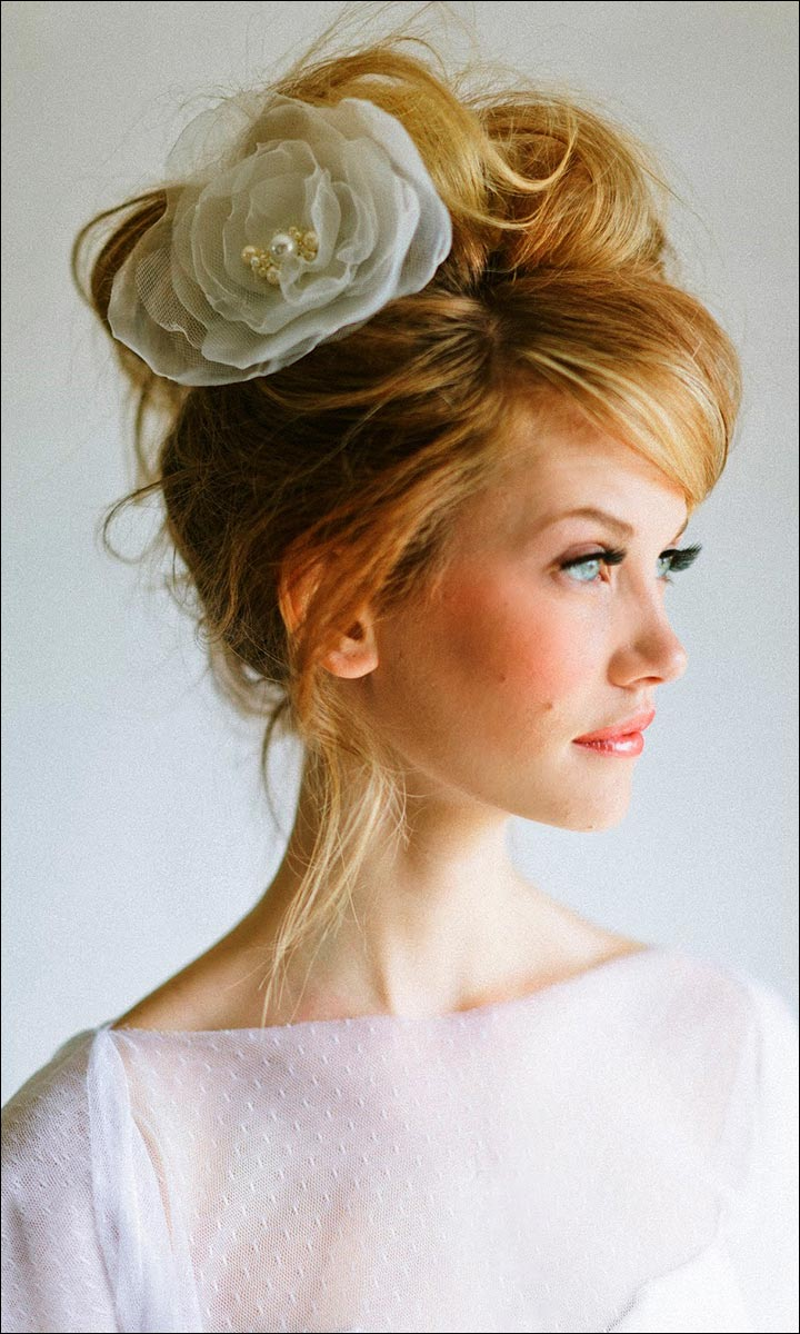 hair bun styles for wedding bridal hairstyles for medium hair 32 looks trending this 2970