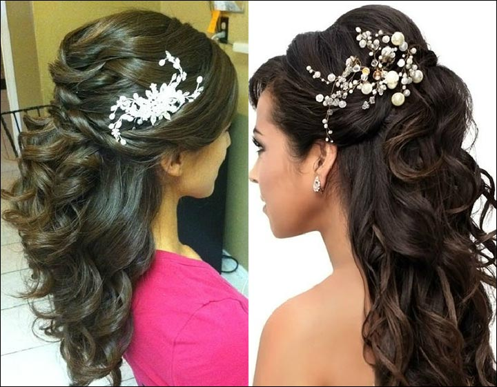 South indian wedding hairstyle for round chubby face