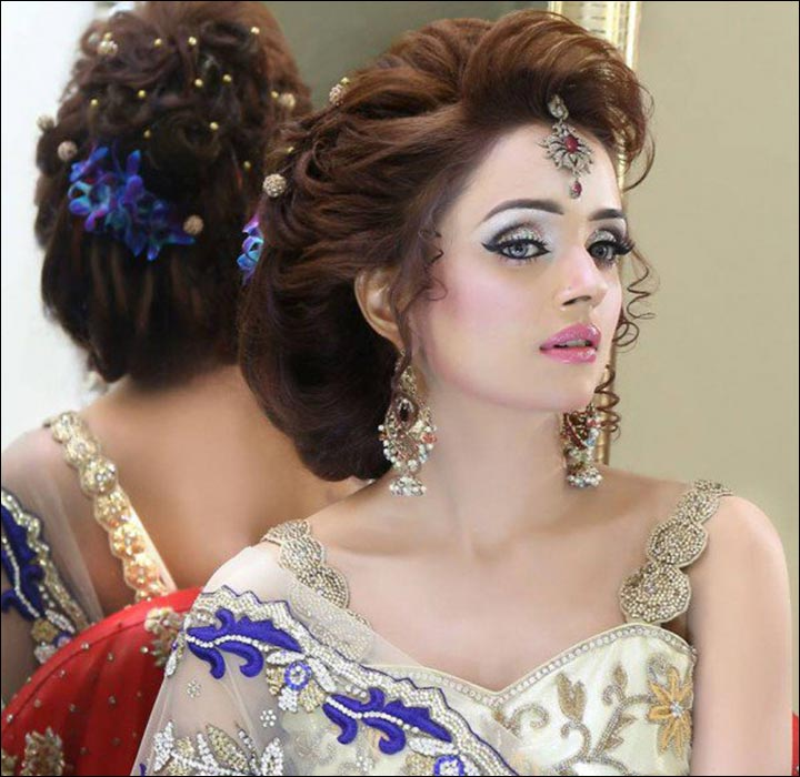 Wedding Hairstyles: Hindu Bridal Hairstyles: 14 Safe Hairdos For The Modern