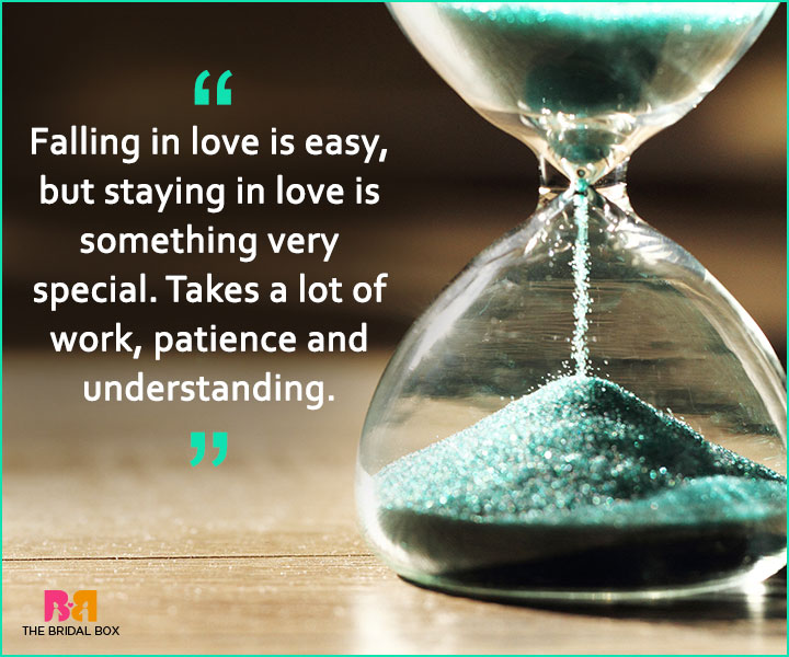 Quotes On Patience In Love - Staying In Love
