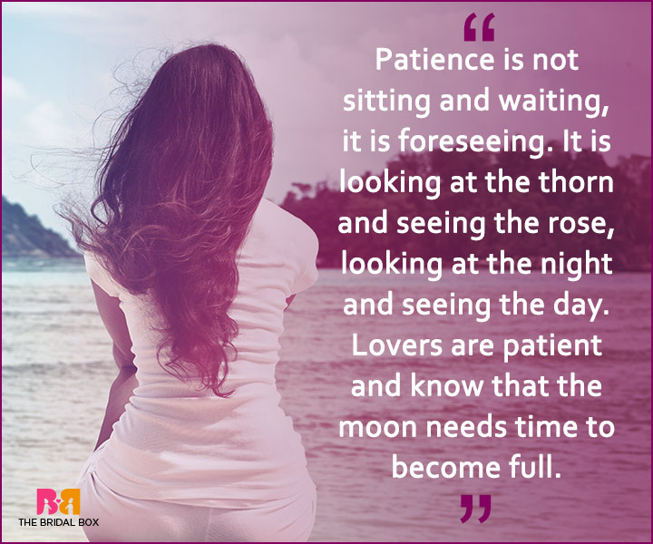 Quotes On Patience In Love - Patience