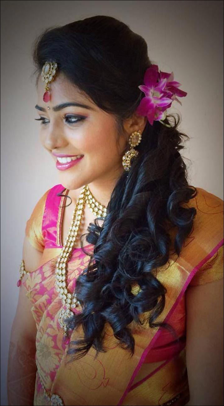One hairstyles side for indian weddings best photo