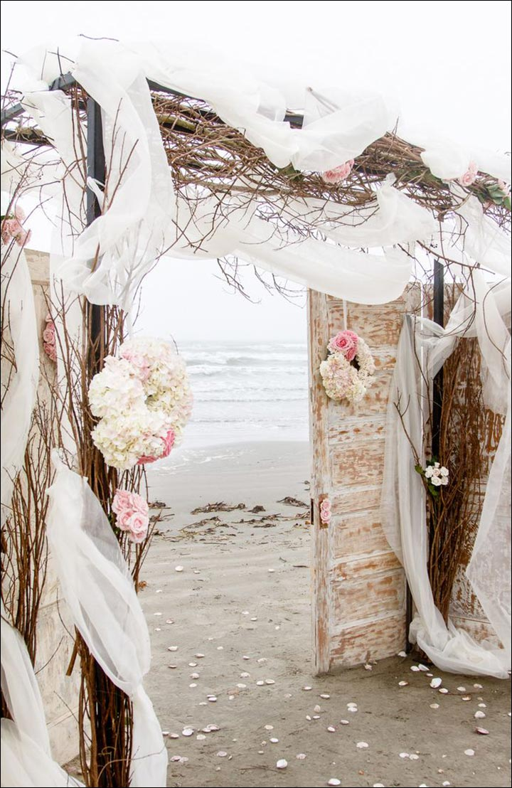 Wedding Arch Decorations - Rustic Draped Arch