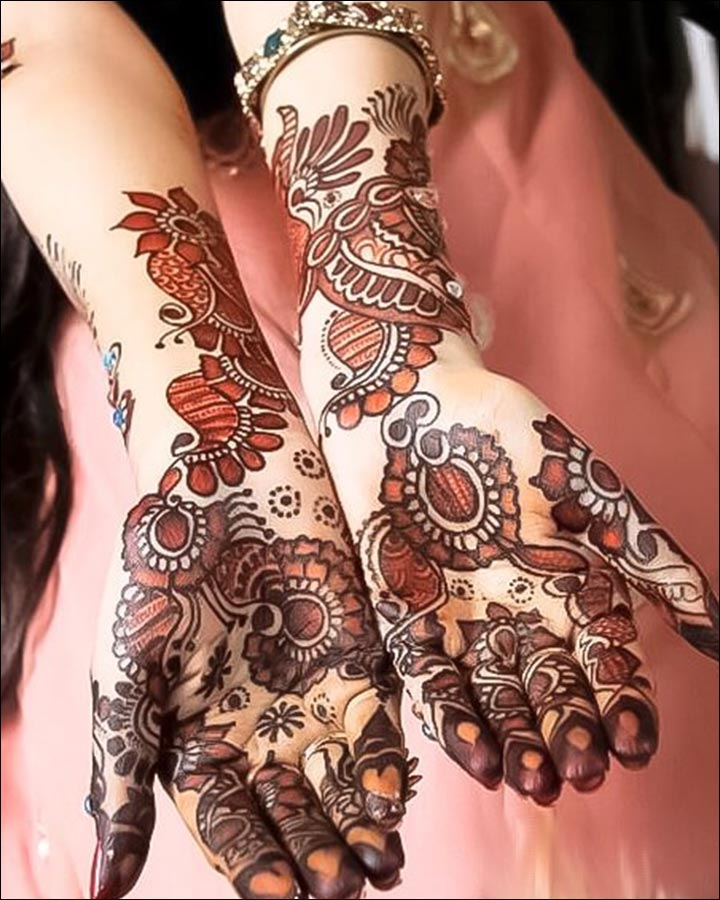 Pakistani Mehndi Designs - Shaded Pakistani Mehndi Design