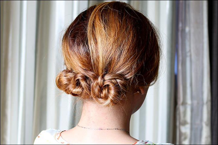 Bridal Hairstyles For Medium Hair - Short Braided Bun