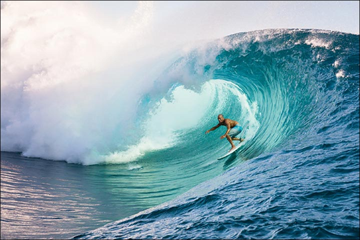 Adventure Honeymoon Destinations - Surfing At Tahiti