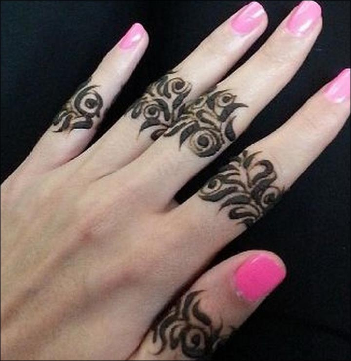 Ring Mehndi Designs - Sweetly Adorned Fingers