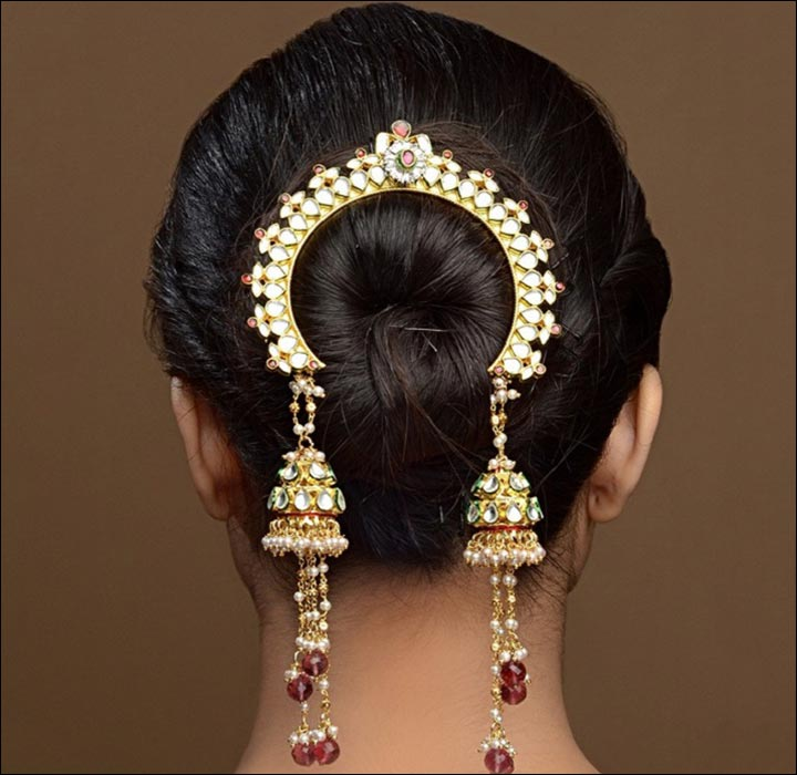 Hindu Bridal Hairstyles - The Classic Bun