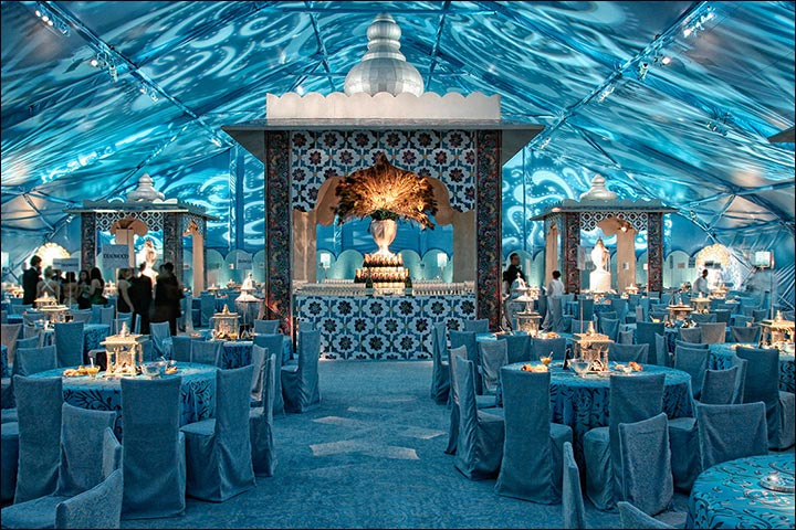 Wedding Backdrop Ideas - Underwater Wedding Backdrop