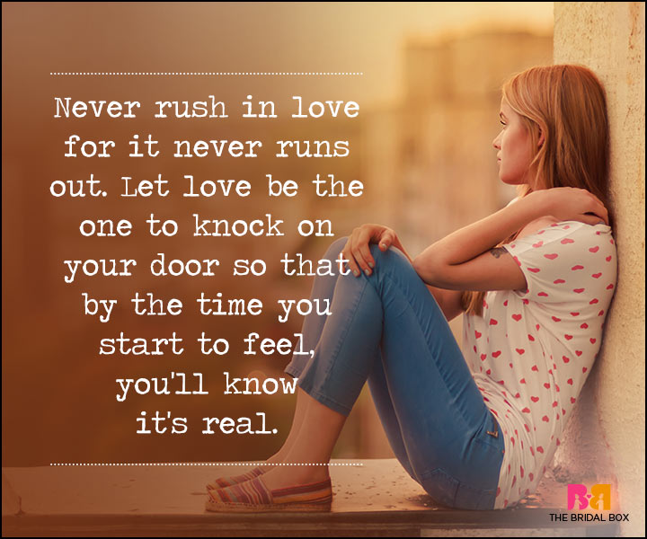 Waiting For Love Quotes - Never Rush