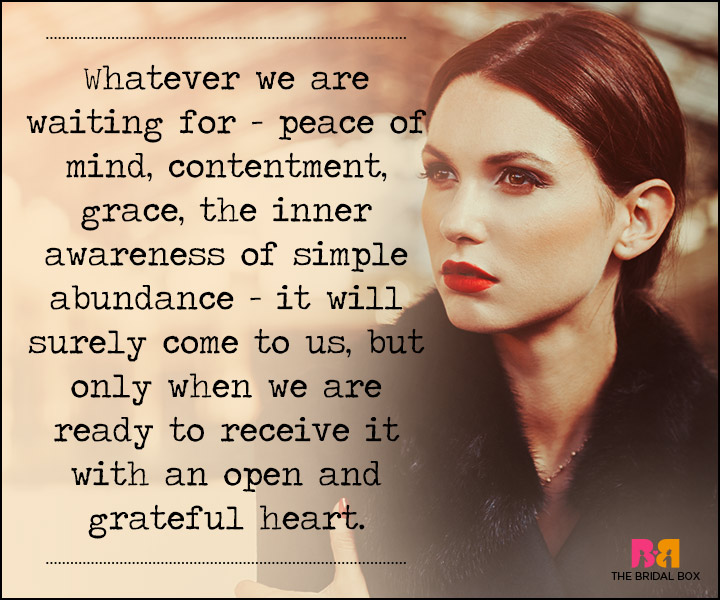Waiting For Love Quotes - Peace Of Mind