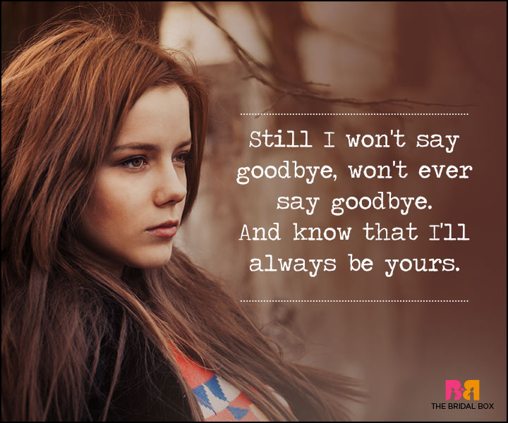 Waiting For Love Quotes - I Won't Say Goodbye