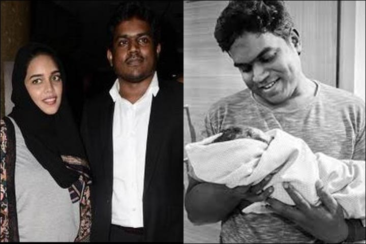 Yuvan Shankar Raja Marriage - Yuvan And Jaffrunnis Captured By The Press, And Inset Yuvan With HIs Newborn Daughter