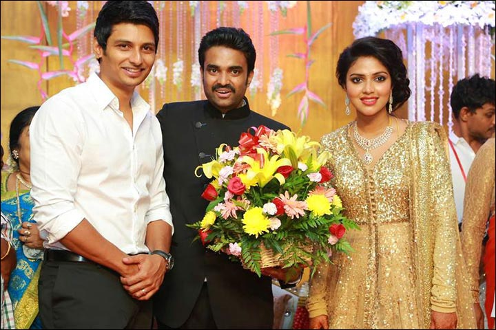 Amala Paul Marriage - Amala And Vijay At Their Reception With Jiiva