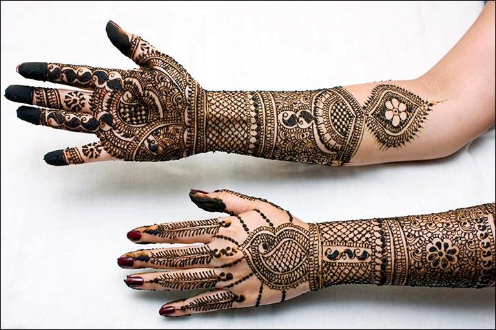 Rajasthani Bridal Mehndi Designs - Canvas Art