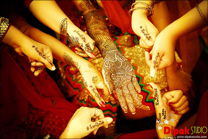 Mehndi Ceremony - Mehendi With The Bridesmaids