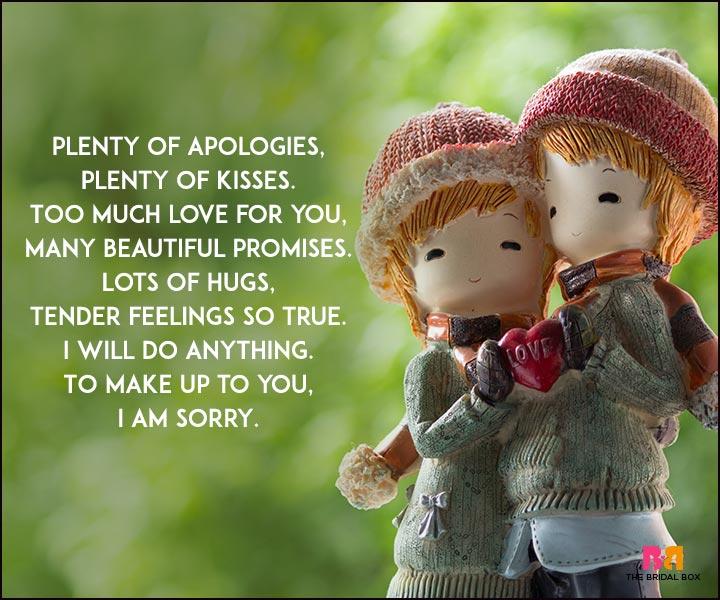 Sorry Love Poems - Tender Feelings