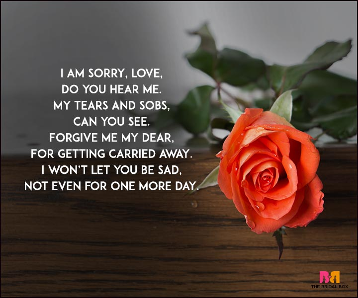 Sorry Love Poems – Put 'Em 15 Sorrys To Good Use