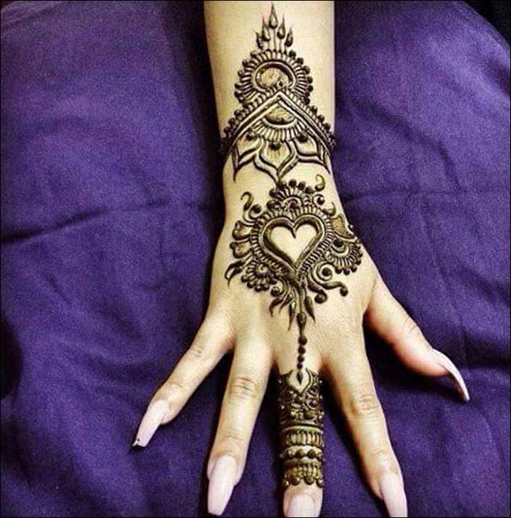 Mehndi Patterns We Heart It : Heart mehndi designs beautiful and splendid henna works