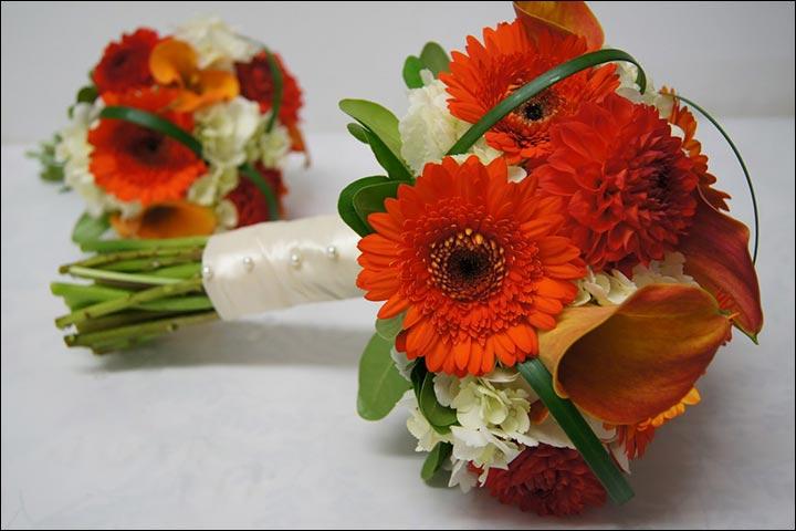 Gerbara Daisy Fall Wedding Bouquets