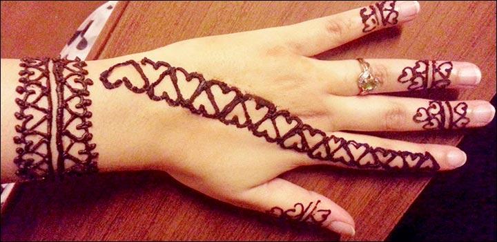 Heart Mehndi Designs - Heart All The Way