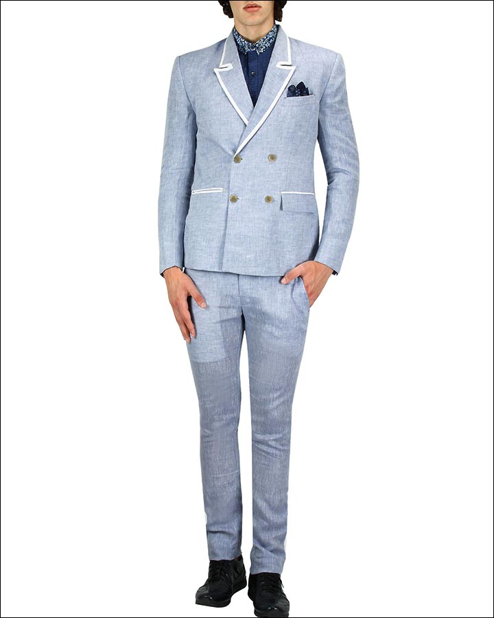 Light-Purple-Lines-Suit-By-Nitin-Chawla-Indian Wedding Suits For Groom