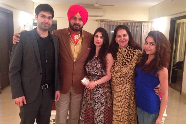Navjot Singh Sidhu Marriage - Navjot Singh Sidhu And Navjot Kaur Sidhu With Rabia Sidhu And Karan Sidhu With His Wife