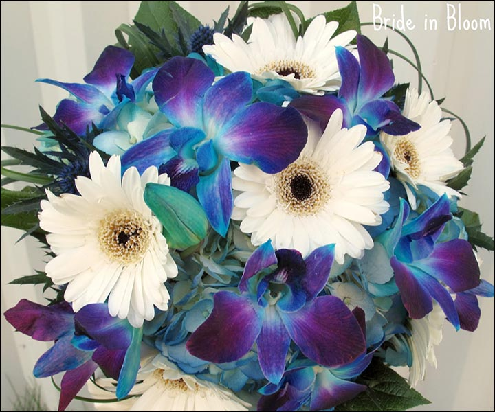 Blue And White Flowers For Weddings: 15 Turquoise Wedding Bouquets For Your D-Day