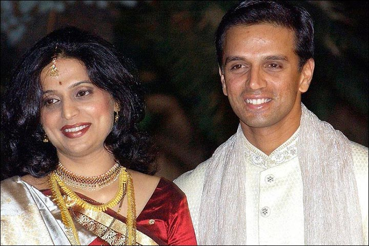 Image result for rahul dravid wife