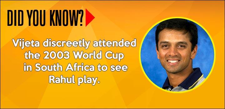 Rahul Dravid Marriage - World Cup 2003